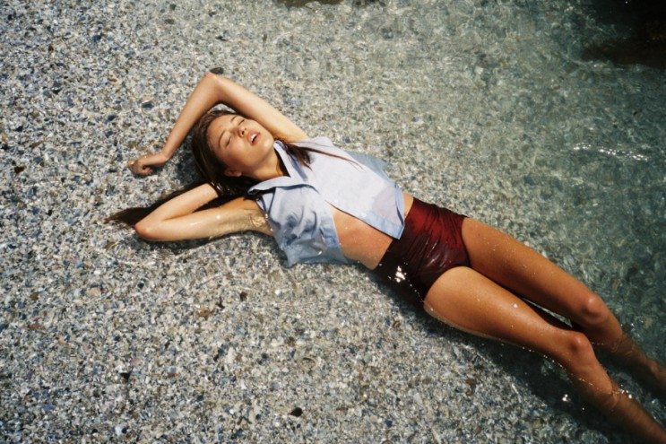 The Joinery- Virginia Blue hemp swing top, -Maroon Joinery high waisted bikini bottoms