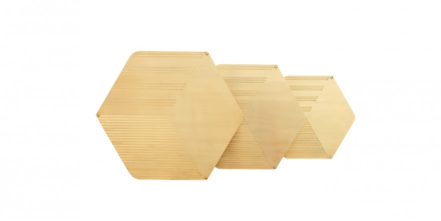 Hex Coffee Side Tables by Haldane Martin