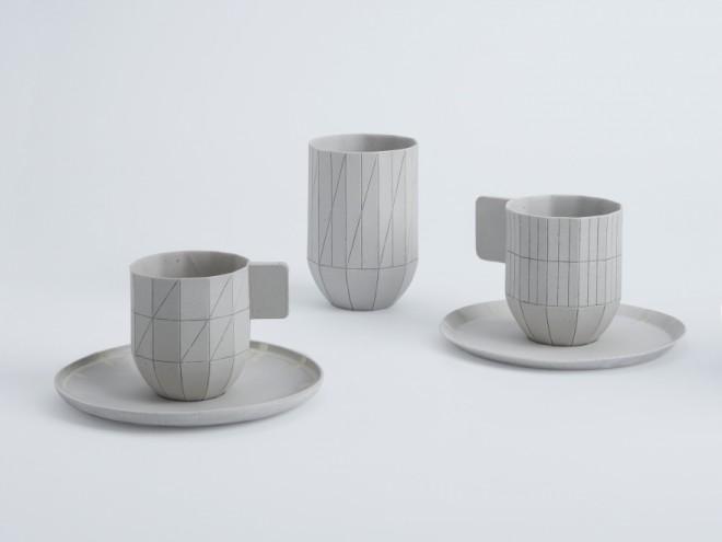 Paper porcelain set by Scholten & Baijings. Image: Scholten & Baijings