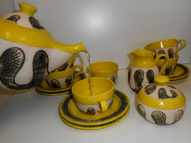 """Sikho Mququ's ceramics are based on the idea of """"Ityali"""" – a traditional Xhosa blanket."""