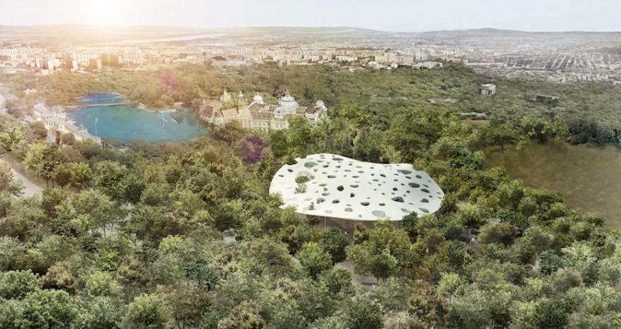 House of Hungarian Music by Sou Fujimoto. Image: Sou Fujimoto Architects