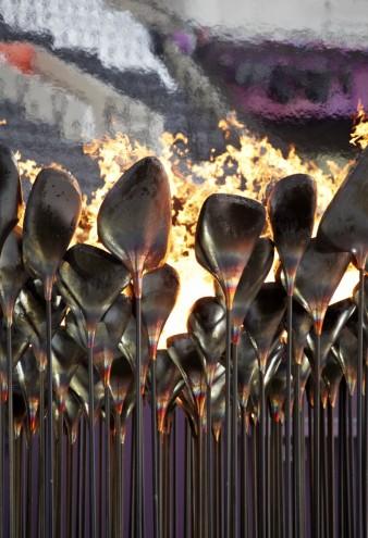 Olympic Cauldron for the 2012 Olympic Games. Image: Edmund Sumner.