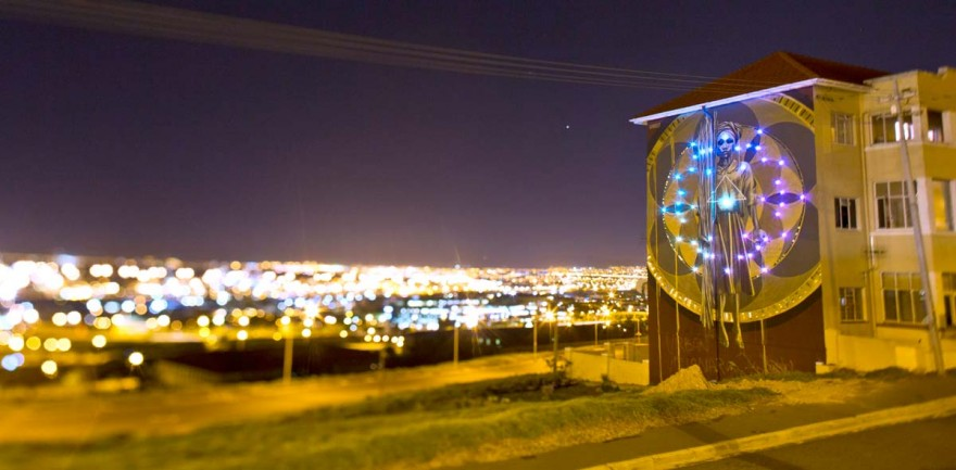 #ANOTHERLIGHTUP at night. Photo by Rowan Pybus @Makhulu_
