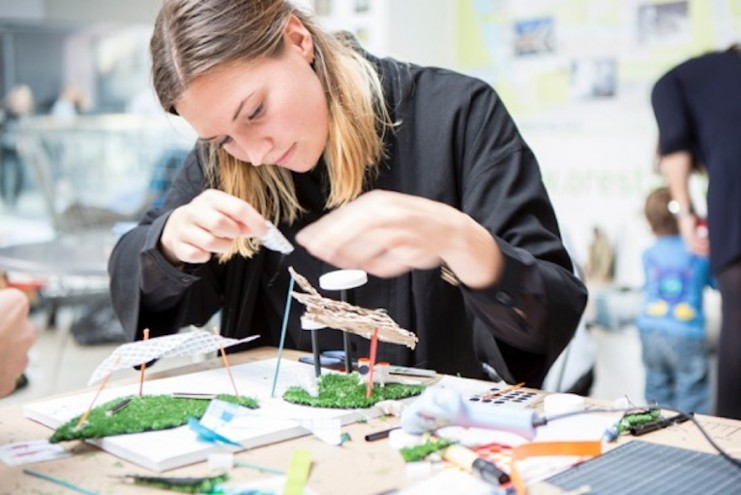 Copenhagen-based Julie Dufour teaches design and architecture to children at the Danish Architecture Centre's children's culture house, and she hosts design workshops for children in hospitals