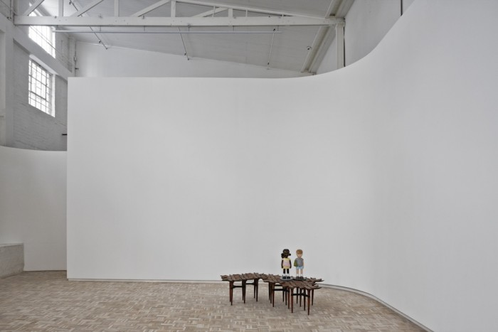 The Southern Guild gallery space with Bloom table by John Vogel and sculpture by Justine Mahoney.