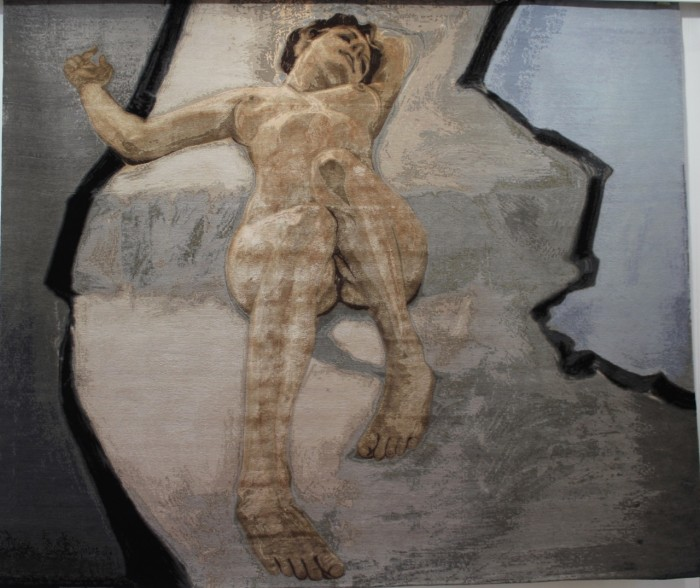 Reclining Nude rug by Kerri Evans and Paco Pakdoust.