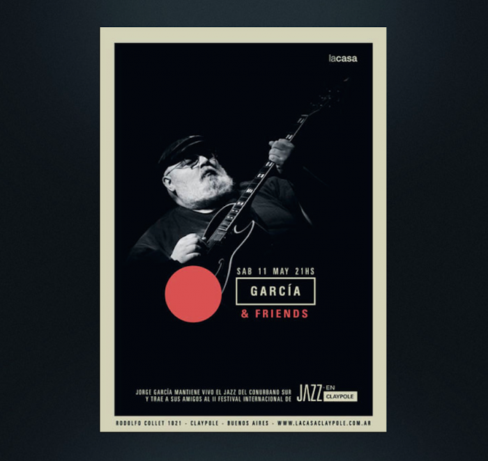 Striking a chord: Max Rompo designs album covers and posters for Argentine musicians.