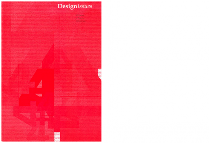 DesignIssues, Winter 2001, Vol. 17, No. 1