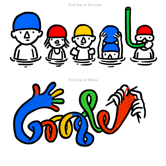 Google doodle by Christoph Niemann