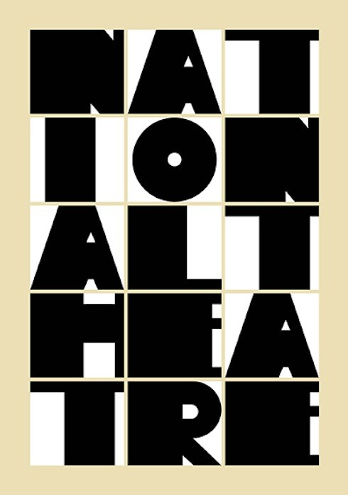 National Theatre poster by Paula Scher.