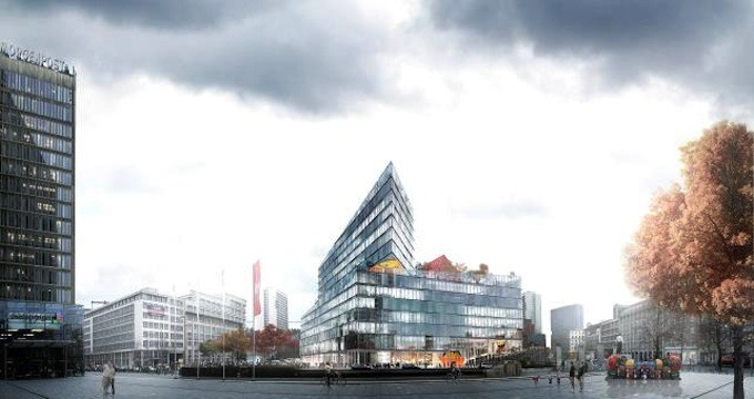 The new Axel Springer Campus by Bjarke Ingels Group (BIG).