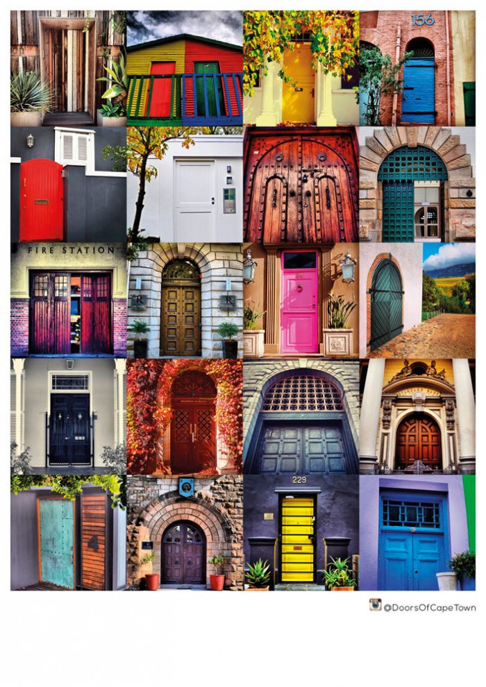 Doors of Cape Town print/canvas poster for sale