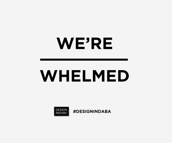 We're Overwhelmed - graphic by Design Indaba inspired by Dean Poole