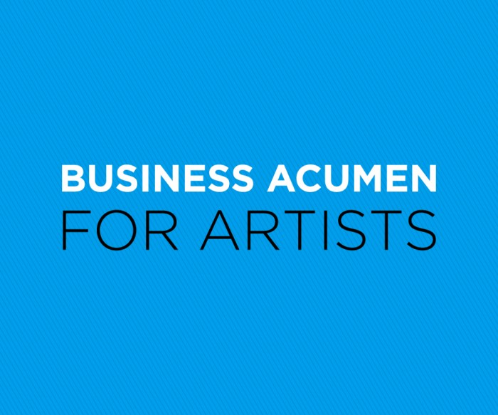 Business Acumen for Artists