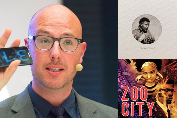 Dave Duarte, Paintings for Ants by Lorraine Loots, and Zoo City by Lauren Beukes