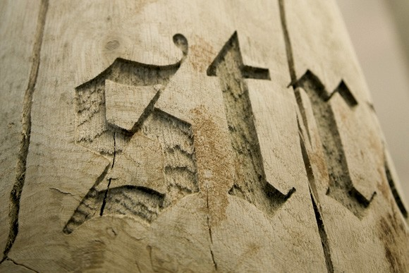 Typographic Trees by Gordon Young.