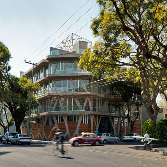Mexican studio Talller 13's Nicolas San Juan apartment building.