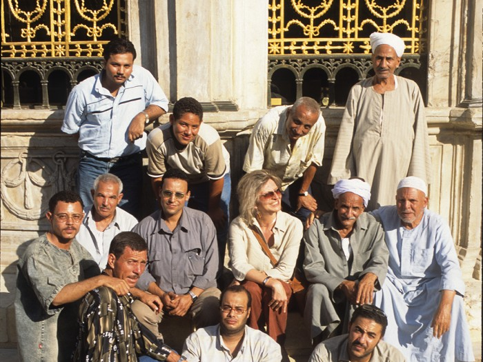 ARCHiNOS team and artisans at Sabil of Muhammad 'Ali Pasha, Cairo.