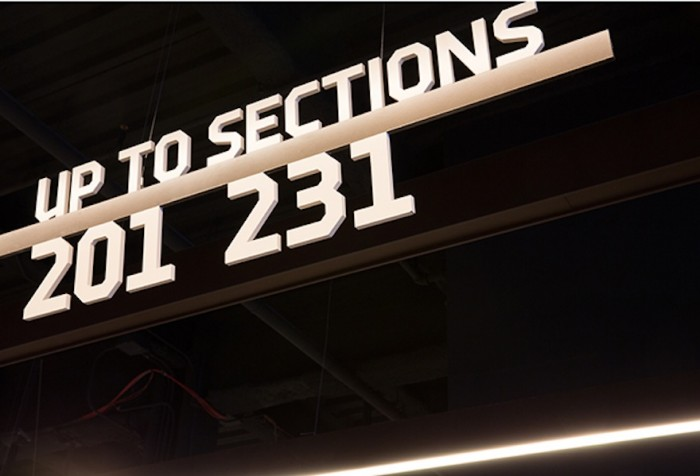 Barclay Centre graphics by Michael Bierut.