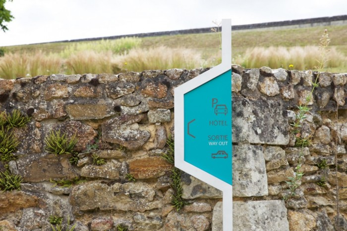 Royal Fontevraud Abbey signage by Matali Crasset.