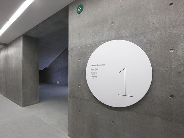 Centro Roberto Garza Sada environmental graphics and signage by Abbott Miller.