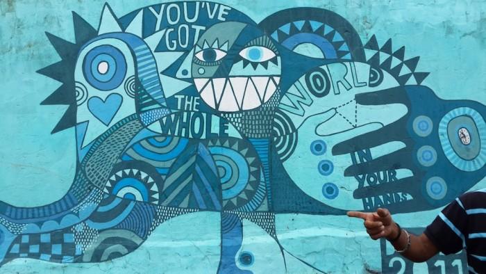 Mural by David Shillinglaw.