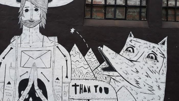 Mural by Jack Fox.