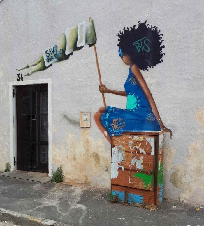 Site-specific street art.