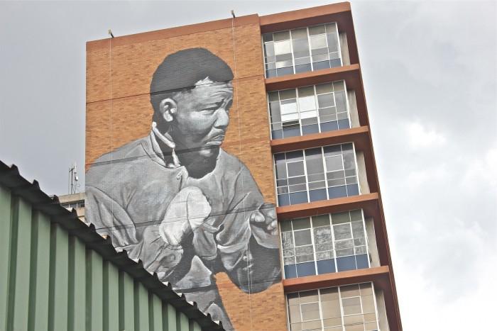 Madiba mural by Freddy Sam.
