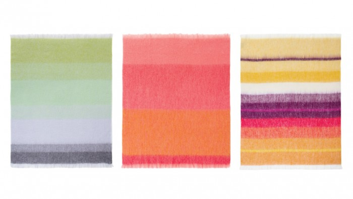"Hinterveld's bestseller, Beautiful Story, has been expanded with three different palettes: ""neutral"", ""natural"" and ""vibrant"" which plays to mohair's strength of absorbing and retaining rich, bright colours for long periods of time. The Beautiful Story range is a blend of 72% mohair, 20% wool and 8% nylon."