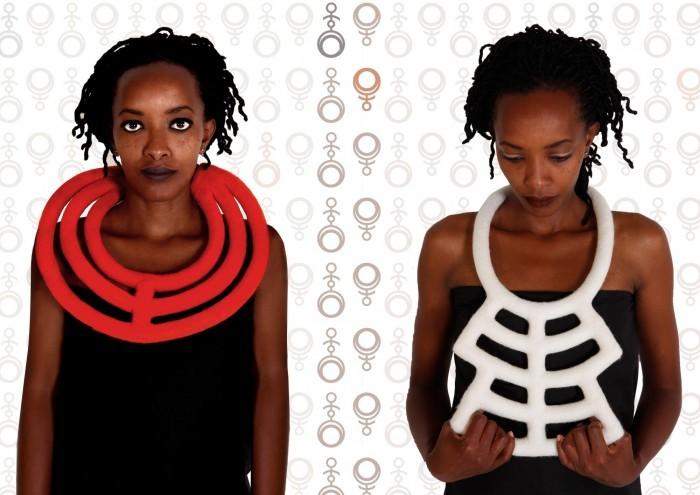 Afri-Garde Neckpieces by Maria Uys.