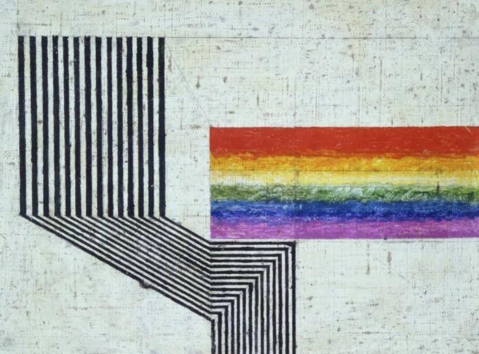 """Ritmo"" by abstract painter Osvaldo Licini."