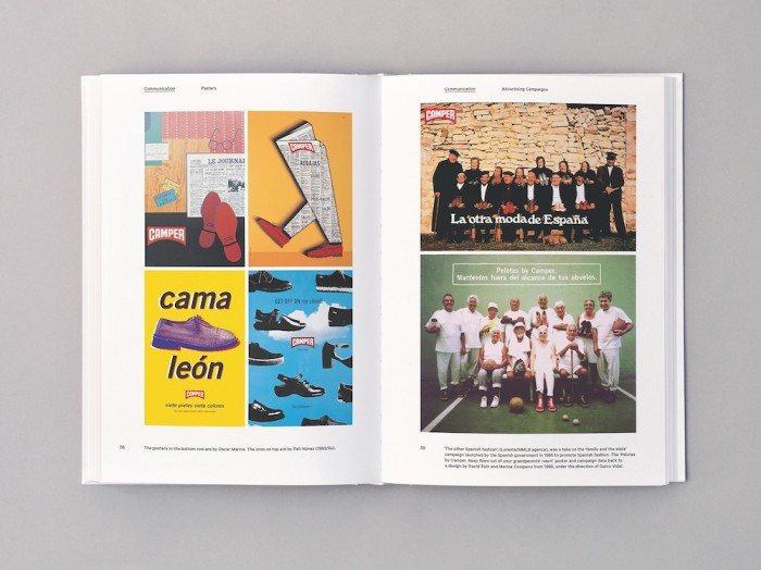 """The Walking Society"" is a new book on Camper shoes, designed by Atlas and published by Lars Müller publishers"