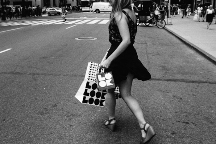"Girl crossing street for Saks Fifth Avenue 2013's ""Look"" campaign. © Pentagram"