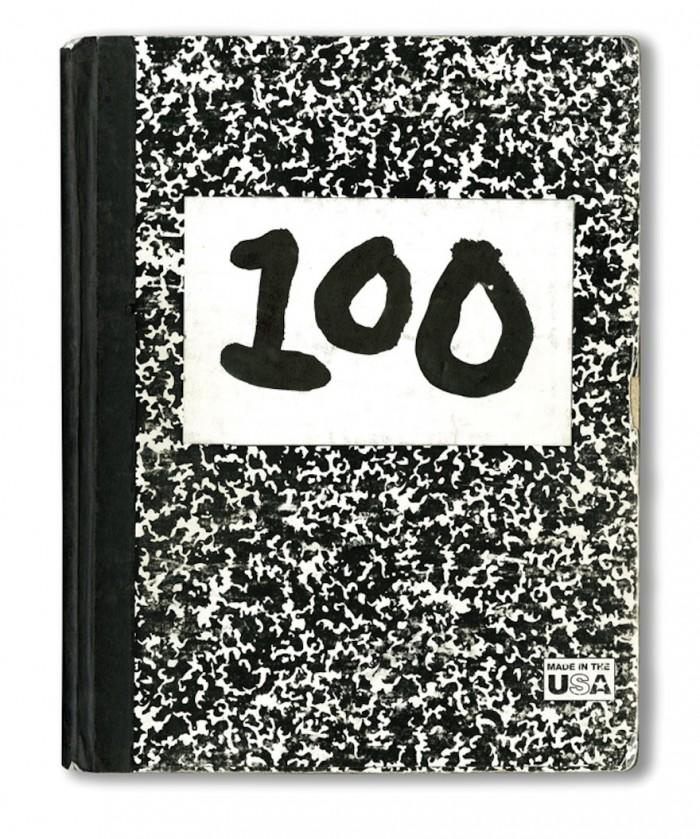 Composition book, No. 100. © Michael Bierut