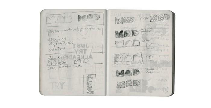 """Process, materials, transformation"" – sketch in composition book © Pentagram"