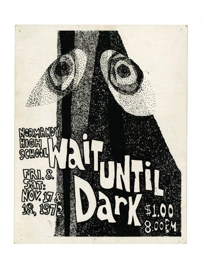 Poster for high school production Wait Until Dark. © Michael Bierut