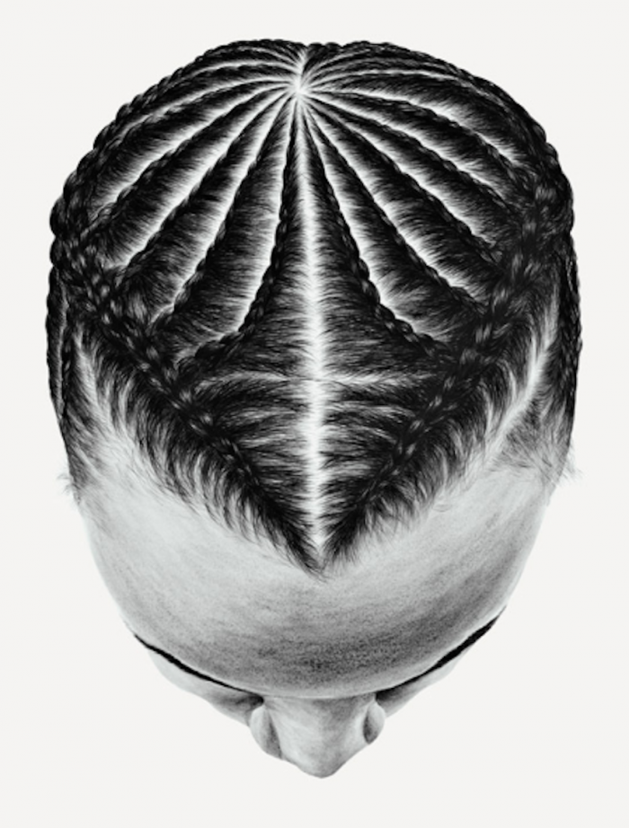 """<p>Mariah from """"The Dreamtime""""</p><p>She sees the braided patterns in her work <em>The Dreamtime </em>as """"a map of the ancient universe, a topographical palimpsest of the world in patterns"""". Translating the hairstyles of students and strangers that she has collected over the years into paintings, she draws a parallel between the painter and the hair braider. On her website, <a href=""""http://www.soyoonlym.com/works/dreamtime/"""">So Yoon Lym</a> explains that both """"lay down their marks like their predecessor cre"""