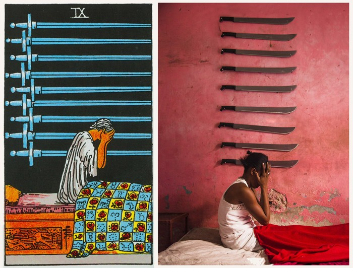 """""""Ghetto Tarot"""", the classic tarot card reinvented, is a collection of striking portraits by Haitian artists and photographer Alice Smeets. Image: facebook/ghettotarot"""