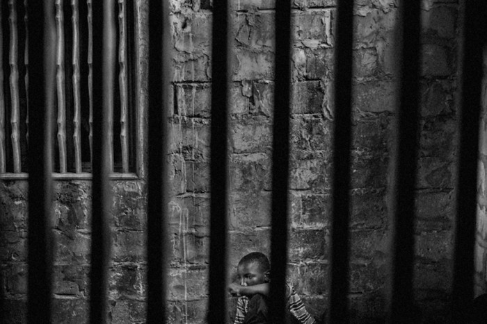 Abdoulaye, 15, imprisoned in one room of a daara in the Diamaguene area, city of Thies, Senegal, May 18, 2015