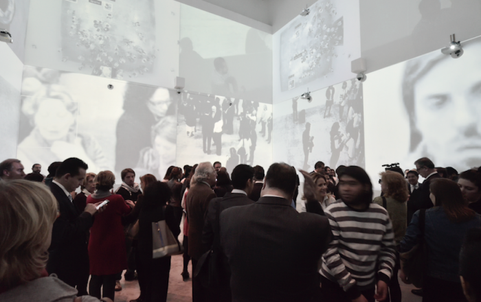 The exhibit that turns audience into art