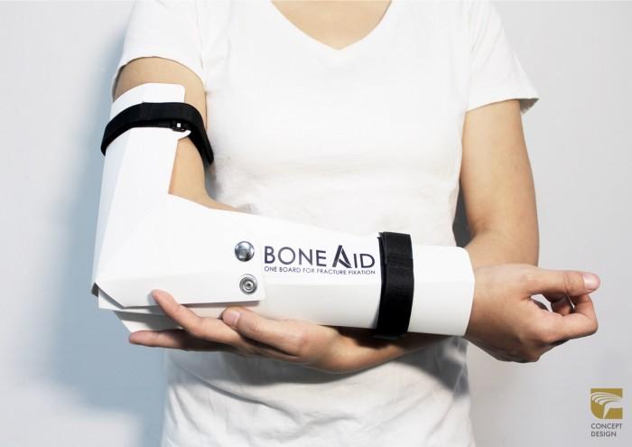 BoneAid is a multi-purpose bone rehabilitation board created for disaster relief emergencies.