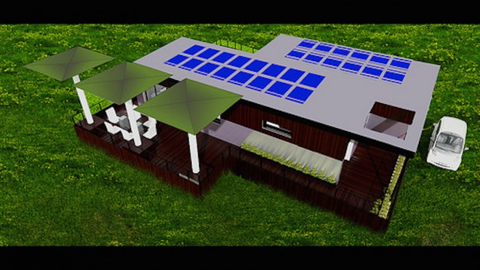 Water-effecient home designed by students from the University of California