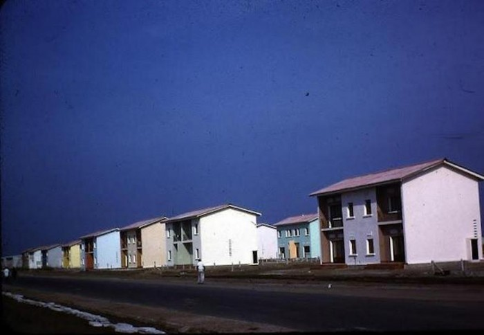 A rousing of houses in Kinshasa, DRC.