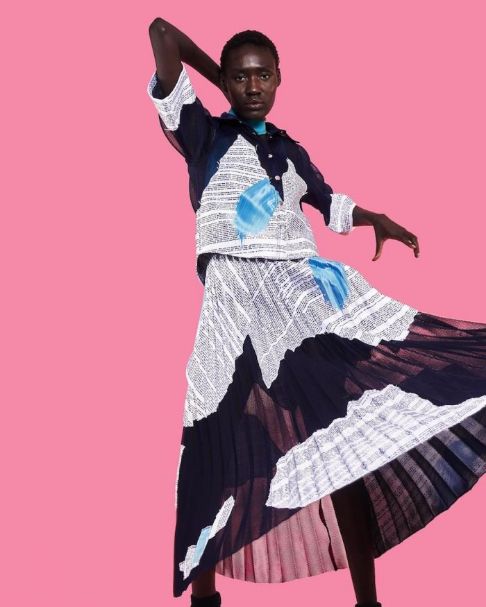 Thebe Magugu dress inspired by his childhood nightmares