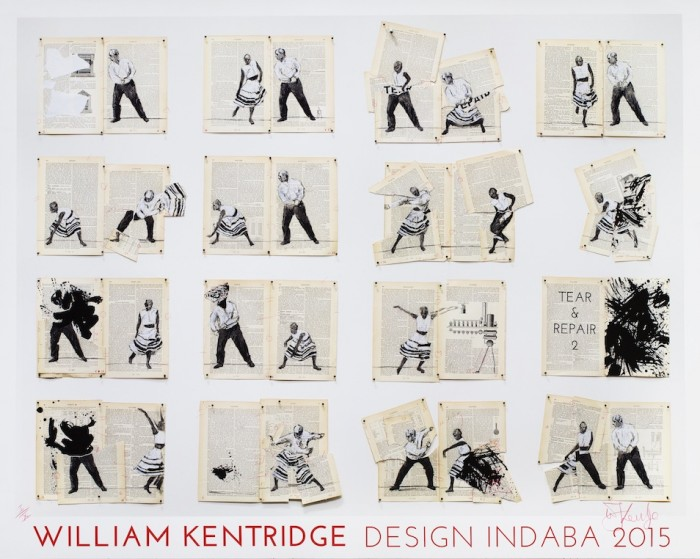 Commemorative William Kentridge print for Design Indaba