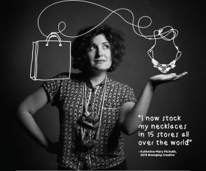 Accessories designer Katherine-Mary Pichulik