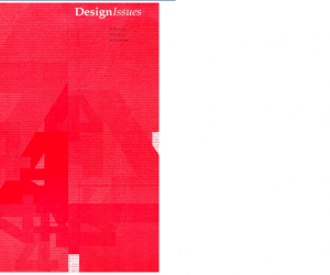 DesignIssues, Winter 2001, Vol. 17, No. 1