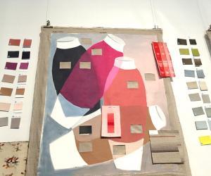 "Hella Jongerius's colour investigation for MAK's ""Exemplary"" exhibition."