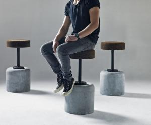 Cork bar stool by WIID Design. Image: Justin Patrick.